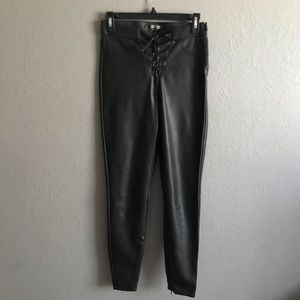 ZARA LEATHER LEGGING/PANTS ONLY WORN ONCE